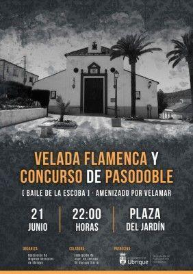 Cartel Velada Flamenca y Concurso de Pasodoble