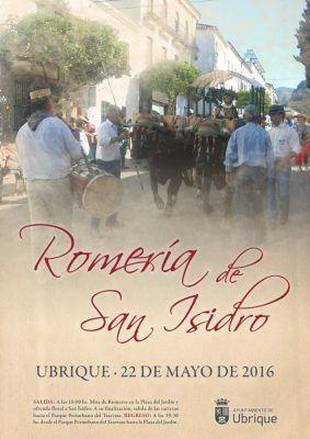 Cartel Romería de San Isidro 2016 Ubrique