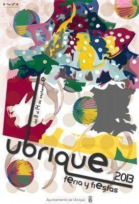 Cartel Feria y Fiestas de Ubrique 2013 obra de Manuel Mancilla Montero