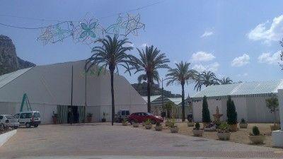 Recinto de las casetas durante la pasada Feria 2012