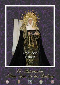 Cartel 75 aniversario Nuestra Señora de los Dolores