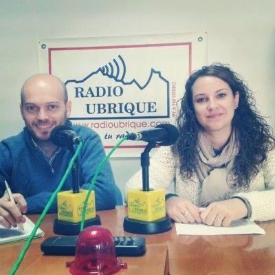José A. Bautista y María Jesús Pérez en Radio Ubrique