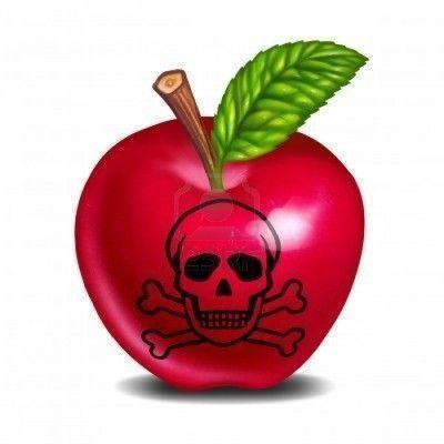 10945937-intoxicacion-alimentaria-simbolo-representado-con-una-manzana-y-craneo-y-huesos-mostrando-el-concept