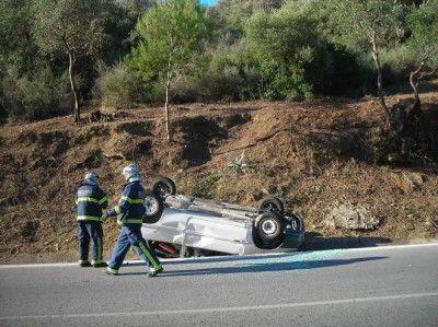 accidente en la curva las Pitas
