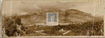 Ubrique en 1934, vista panorámica. Foto propiedad de Vicente Domínguez