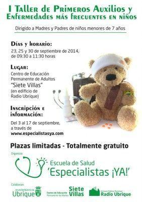 Taller Primeros Auxilios para padres-cartel
