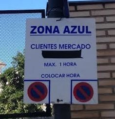 Zona azul cartel