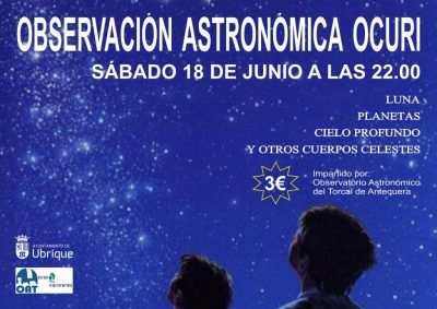 Cartel observación astronómica Ocuri